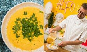 Alfas Ivanauskas rekomenduoja: kreminė moliūgų sriuba vos iš 4 ingredientų