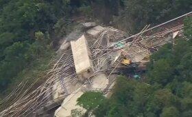 Kolumbijoje sugriuvus statomam tiltui žuvo 10 darbininkų