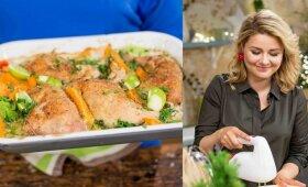 Beata Nicholson parodė, kaip pasigaminti neatsivalgomą Azijos skonių įkvėptą vištieną
