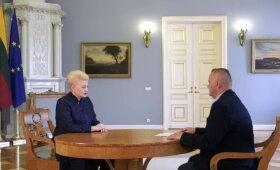 """Dalia Grybauskaitė: apie """"paskolas dėžutėse"""", VSD pažymas ir """"Agroverslo"""" susiliejimą su politika"""
