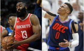 """""""Rockets"""" pelnė 50 taškų per kėlinį ir atsidūrė greta pusfinalio, """"Jazz"""" naujokas pranoko """"Thunder"""" žvaigždes"""