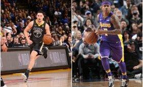 """NBA naktis: GSW pranoko """"Spurs"""", """"Lakers"""" gretose debiutavo buvęs """"Cavaliers"""" mažylis"""