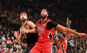 """Valančiūno rezultatyvumo seriją nutraukę """"Pelicans"""" pažemino """"Raptors"""" jų pačių tvirtovėje"""
