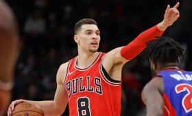 """""""Bulls"""" neleido LaVine\'ui persikelti į Sakramentą, """"Spurs"""" paleidžia puolėją"""