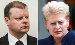 Skvernelis per Vyriausybės valandą nesivaržydamas žėrė priekaištus Grybauskaitei