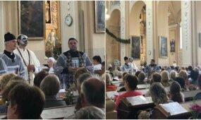 Policija pradėjo ikiteisminį tyrimą dėl Emilio Vėlyvio rengtos provokacijos bažnyčioje