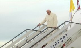 Popiežius Pranciškus vieši Latvijoje