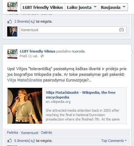 Homofobiškais pasisakymais V. Matačiūnaitė užsitraukė neapykantą