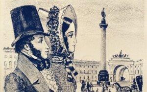 Mirštantis A. Puškinas žmonai: nešiok gedulą dvejus metus, paskui ištekėk, bet ne už plevėsos