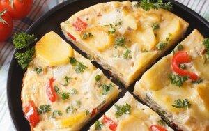Itališka bulvių ir paprikų fritata