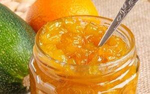 Cukinijų uogienė su apelsinais