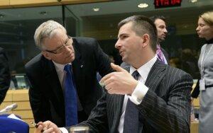 Rimantas Šadžius ir Lenkijos finansų ministras Mateuszas Szczurekas