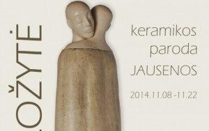 """Keramikės D. Ložytės skulptūrinių kompozicijų paroda """"Jausenos"""""""