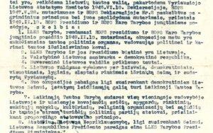 Lietuvos Laisvės Kovos Sąjūdžio tarybos deklaracija, Genocido aukų muziejaus nuotr.