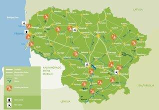 Dviračių trasų žemėlapis/ VTD iliustr.