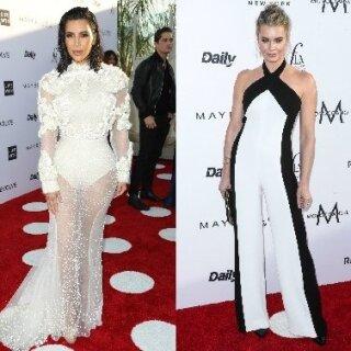 Kim Kardashian ir Rebecca Romijn