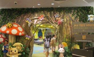 """Vaikams skirta žalioji biblioteka """"Mano namelis medyje"""" (Singapūras) L.Juchnevič nuotr."""