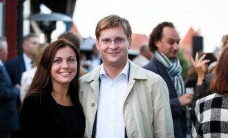 Juras Požėla su žmona