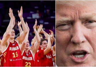 """""""New Yorker"""" ironizuoja: D. Trumpas vietoje """"Warriors"""" į Baltuosius rūmus kvietė Rusijos rinktinę"""
