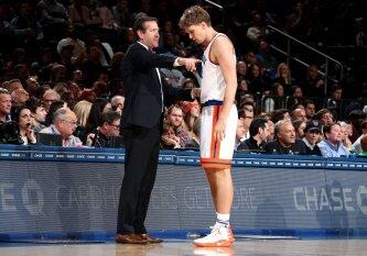 """Pavojaus varpai: """"Knicks"""" M. Kuzminsko gali neišleisti į rinktinę"""