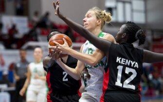 Kurčiųjų olimpinių žaidynių moterų krepšinio turnyro ketvirtfinalis: Lietuva - Kenija