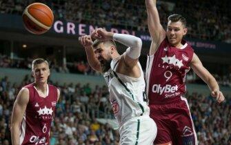 Tarptautinis vyrų krepšinio turnyras Rygoje. Latvija - Lietuva