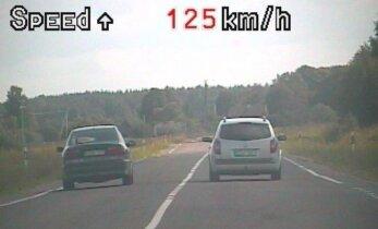 Remontuojamame kelyje greitį viršijo 62 km/val.