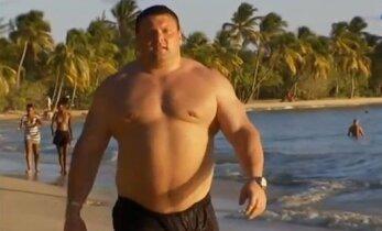 """Ž. Savickas kovos dėl aštunto """"Arnold Strongman Classic"""" čempiono titulo"""