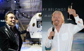 Du kosmoso magnatai: vienas raketas kelia, kitas degtinę reklamuoja