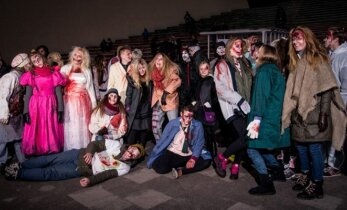 Artėjantį Heloviną vilniečiai paminėjo bėgdami nuo zombių
