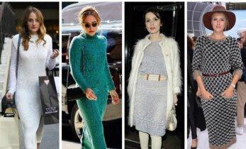 """Stiliaus gidas: kaip """"teisingai"""" vilkėti megztą suknelę? Stilistės A. Gilytės patarimai (FOTO)"""