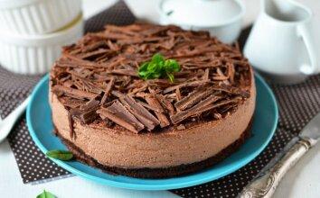 Šokoladinis amerikietiškas sūrio pyragas