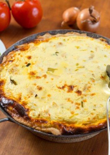 Nesaldus sūrio pyragas