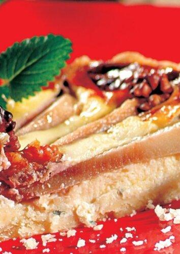 Kriaušių ir pelėsinio sūrio pica