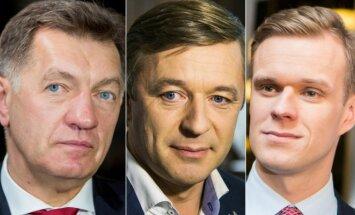 Algirdas Butkevičius, Ramūnas Karbauskis ir Gabrielius Landsbergis