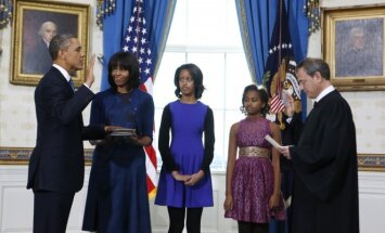 Barackas Obama, Michelle Obama su dukromis  Malia ir Sasha