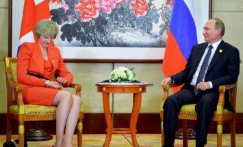 Theresa May ir Vladimiras Putinas