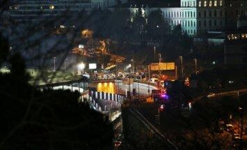"""Sprogimai prie Stambulo """"Besiktas"""" futbolo stadiono"""