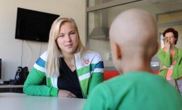 Rūta Meilutytė Kauno klinikose