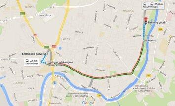 Google maps viešojo transporto tvarkaraščiai