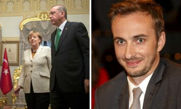 A. Merkel. R. T. Erdoganas, J. Boehmermannas