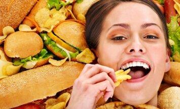 greitas maistas, hamburgeriai, gruzdintos bulvytės
