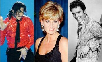 M. Jacksonas, princesė Diana, E. Presley