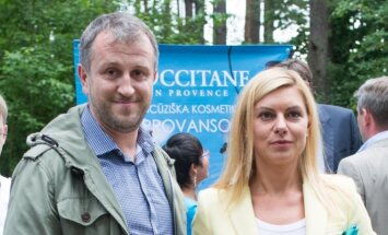 Liutauras Čeprackas su žmona Laura Čepukaite