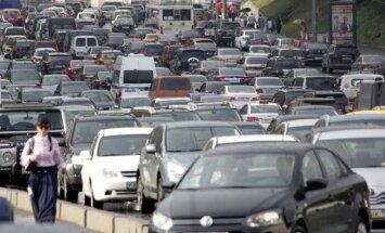 Automobilių spūstys Maskvoje