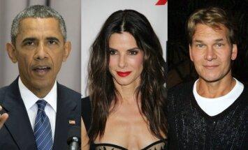 Barackas Obama, Sandra Bullock, Patrickas Swayze