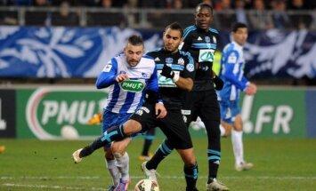 Marselio futbolininkai turėjo vargo su ketvirtos lygos komanda