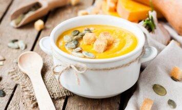 Moliūgų sriuba su sūriu