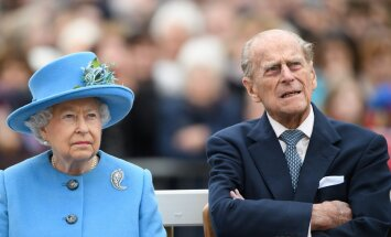 Karalienė Elizabeth II ir princas Philipe'as