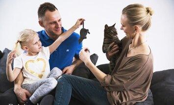 Barbora, jos tėveliai ir Olofas. Foto / Greta Kniežaitė-Novikovienė
